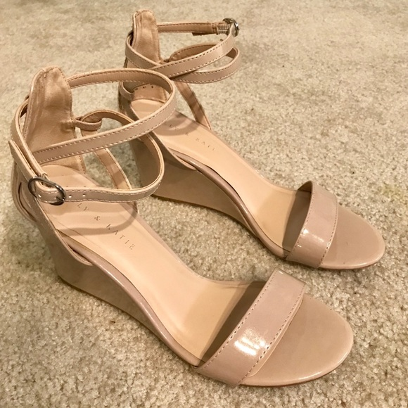 b83aa8626e Kelly & Katie Shoes | Nude Wedge Heels Kelly Katie | Poshmark
